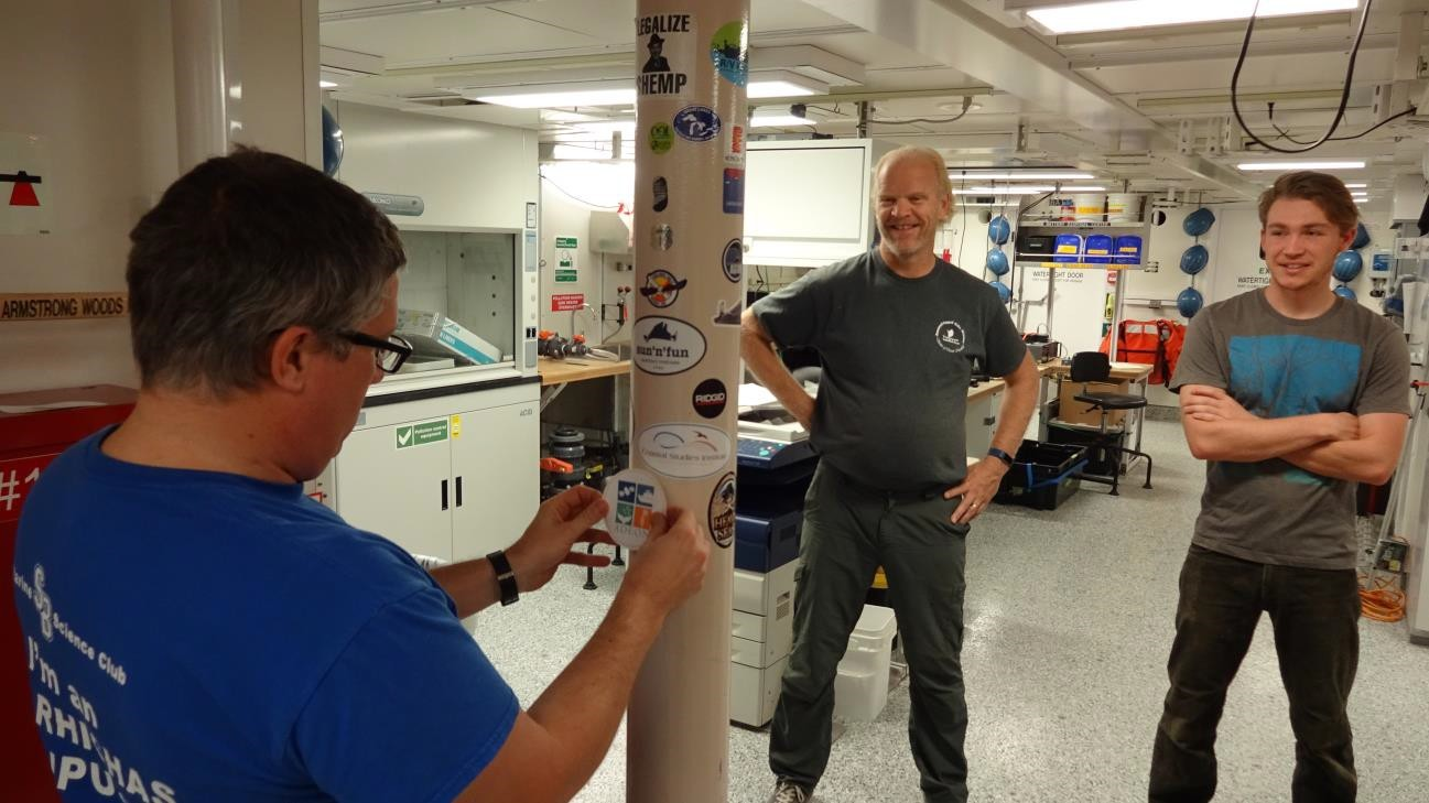 Placing the ADEON Sticker in the Lab